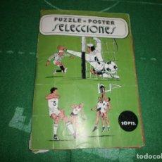 Coleccionismo deportivo: ALBUM PUZZLE POSTER SELECCIONES VER FOTOS. Lote 72232111