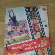 Coleccionismo deportivo: ALBUM CAMPEONES Y ESTRELLAS - CHOCOLATES LA CIBELES A FALTA DE 1 CROMO. Lote 72746207