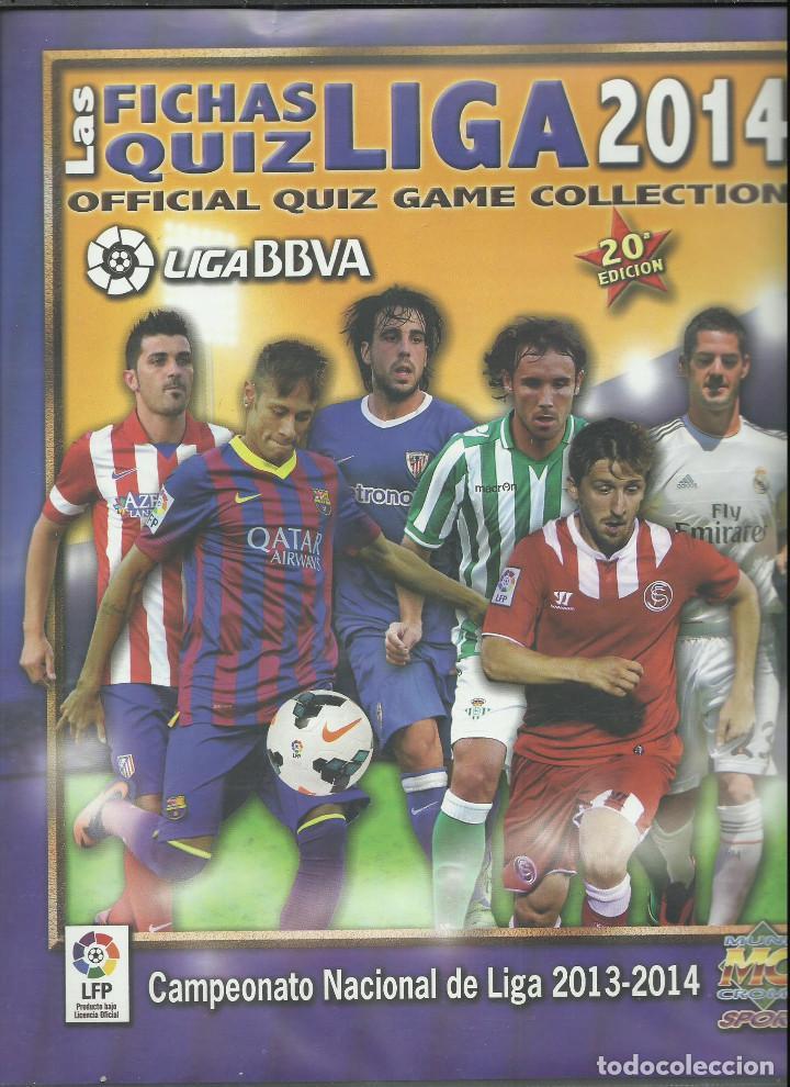 ALBUM DE LAS FICHAS DE LA LIGA 2014 CON 584 FICHAS (Coleccionismo Deportivo - Álbumes y Cromos de Deportes - Álbumes de Fútbol Incompletos)