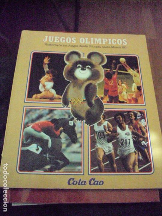 ALBUM JUEGOS OLIMPICOS MOSCU 80 VACIO SIN CROMOS COLACAO (Coleccionismo Deportivo - Álbumes y Cromos de Deportes - Álbumes de Fútbol Incompletos)