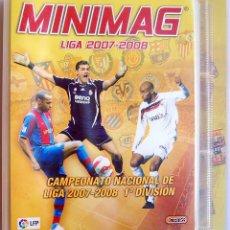 Coleccionismo deportivo: ALBUM ARCHIVADOR DE CROMOS MINIMAG CAMPEONATO NACIONAL DE LIGA 2007-2008 1ª DIVISIÓN. VACIO. Lote 74283403