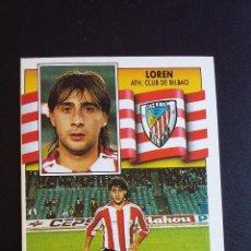 Coleccionismo deportivo: ESTE 90/91 1990 1991 - LOREN - ATHLETIC CLUB DE BILBAO ( NUNCA PEGADO ). Lote 74641143