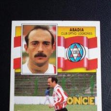 Coleccionismo deportivo: ESTE 90/91 1990 1991 - ABADIA - C.D. LOGROÑÉS ( DESPEGADO ). Lote 75057655