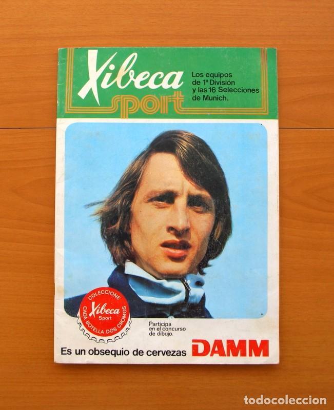 XIBECA SPORT - CERVEZAS DAMM 1974 - ÁLBUM, LOS EQUIPOS DE 1ª DIVISIÓN Y LAS 16 SELECCIONES DE MUNICH (Coleccionismo Deportivo - Álbumes y Cromos de Deportes - Álbumes de Fútbol Incompletos)