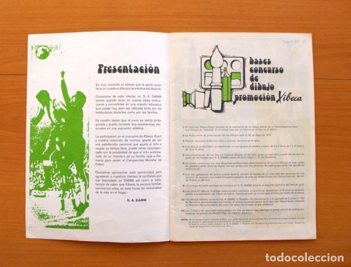Coleccionismo deportivo: Xibeca sport - Cervezas Damm 1974 - Álbum, Los equipos de 1ª División y las 16 Selecciones de Munich - Foto 2 - 75611331