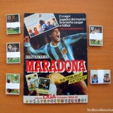 Coleccionismo deportivo: ÁLBUM DIEGO ARMANDO MARADONA - LIGA 1984-1985, 84-85 - EDITORIAL CROMO ESPORT - CROMOESPORT. Lote 75688099