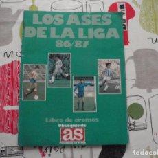 Coleccionismo deportivo: ALBUM DE CROMOS DE FÚTBOL LOS ASES DE LA LIGA 1986-87 DE AS.. Lote 75781131