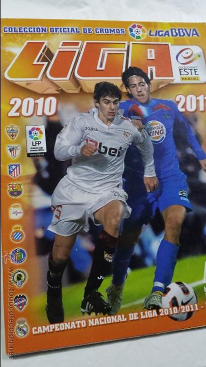 ALBUM FUTBOL LIGA 2010 2011 COLECCIONES ESTE (Coleccionismo Deportivo - Álbumes y Cromos de Deportes - Álbumes de Fútbol Incompletos)