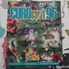 Coleccionismo deportivo: ALBUM DE CROMOS DE FUTBOL DE LA EUROCOPA DE INGLATERRA, EUROFOOT 96 DE DS. Lote 75801283