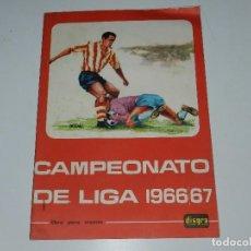 Coleccionismo deportivo: CAMPEONATO DE LIGA 1966 - 67 , DISGRA , ALBUM VACIO PLANCHA, BUEN ESTADO. Lote 85635171