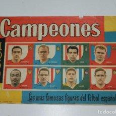 Coleccionismo deportivo: ALBUM CAMPEONES 1959 , EDT BRUGUERA 1958 , ALBUM VACIO, SEÑALES DE USO. Lote 76017139