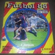 Coleccionismo deportivo: ÁLBUM DE CROMOS FÚTBOL 88 (PANINI) CON 380 CROMOS, COMPLETO A FALTA DE 29. Lote 76585459