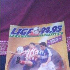 Coleccionismo deportivo: ALBUM LIGA 94/95 ESTE. PLANCHA CASI VACIO MUY NUEVO. DIFICIL. VER FOTOGRAFÍAS . Lote 76674111