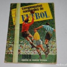 Coleccionismo deportivo: ALBUM CAMPEONATOS NACIONALES DE FUTBOL 1968 , EDT RUIZ ROMERO 1967 , FALTAN 36 CROMOS. Lote 78043297