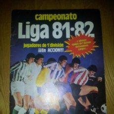 Coleccionismo deportivo: ALBUM DE CROMOS EDICIONES ESTE LIGA TEMPORADA 81 82 1981 1982 VACIO. Lote 79098121