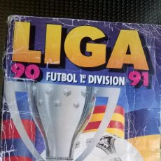 Coleccionismo deportivo: ALBUM LIGA 1990/91 - EDC. ESTE ( CONT.173 CROMOS). Lote 80380861