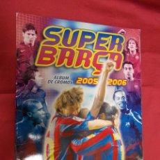 Coleccionismo deportivo: ALBUM DE CROMOS INCOMPLETO. SUPER BARÇA - 2005 2006. CON 73 CROMOS. Lote 81043272