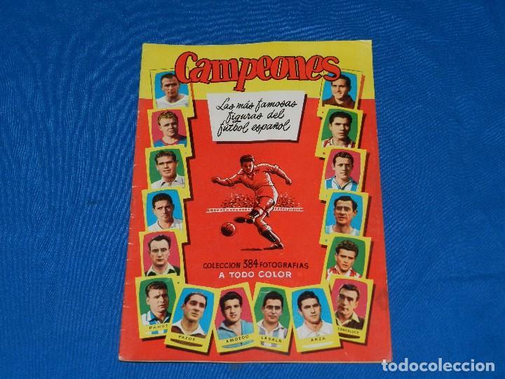 ALBUM CAMPEONES 1955 LAS MAS FAMOSAS FIGURAS DEL FUTBOL ESPAÑOL , EDT BRUGUERA, ALBUM PLANCHA (Coleccionismo Deportivo - Álbumes y Cromos de Deportes - Álbumes de Fútbol Incompletos)