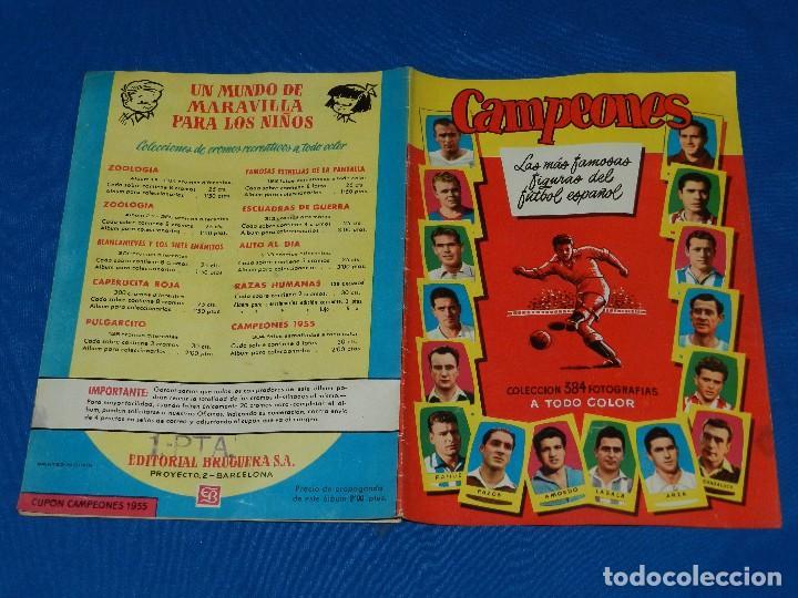 Coleccionismo deportivo: ALBUM CAMPEONES 1955 LAS MAS FAMOSAS FIGURAS DEL FUTBOL ESPAÑOL , EDT BRUGUERA, ALBUM PLANCHA - Foto 2 - 82717288