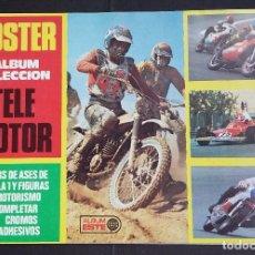 Coleccionismo deportivo: POSTER ALBUM TELEMOTOR - EDICIONES ESTE 1975 - CONTIENE 14 DE LOS 30 CROMOS DE LA COLECCIÓN.. Lote 83755584