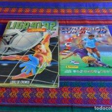 Coleccionismo deportivo: ESTE LIGA 91 92 1991 1992 COMPLETO FALTAN 17 FICHAJES. EUROCOPA INGLATERRA 1996 INCOMPLETO FALTAN 35. Lote 84587860