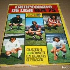 Coleccionismo deportivo: ÁLBUM CAMPEONATO DE LIGA 74-75 ESTE FALTAN 16 CROMOS. Lote 93185004