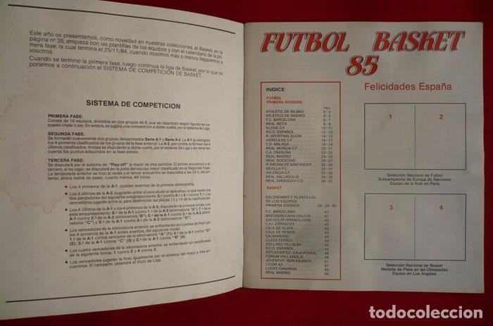 Coleccionismo deportivo: ALBUM VACIO FUTBOL BASKET 85 PANINI - Foto 2 - 86069584