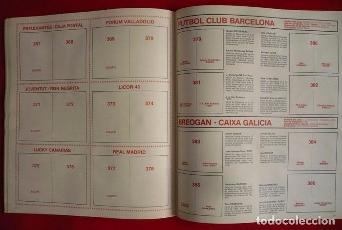 Coleccionismo deportivo: ALBUM VACIO FUTBOL BASKET 85 PANINI - Foto 11 - 86069584