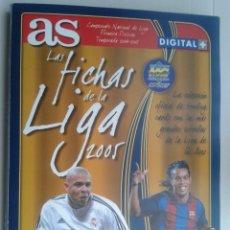 Coleccionismo deportivo: ALBUM ** AS ** LAS FICHAS DE LA LIGA 2005 ** MUNDICROMO ** NO COMPLETO. 245 FICHAS -FALTA EL 104 -. Lote 86186960