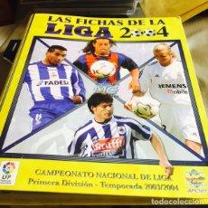 Coleccionismo deportivo: LAS FICHAS DE LA LIGA 2004-298 FICHAS. Lote 86355655
