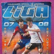 Coleccionismo deportivo: ALBUM CROMOS FUTBOL LIGA 2007-2008, ESTE, TIENE 492 CROMOS Y 56 FICHAJES, A. Lote 86731228