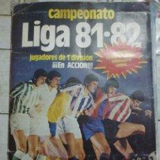 Coleccionismo deportivo: ALBUM ESTE 81/82 CON 88 CROMOS EN TOTAL. DE ELLOS 5 FICHAJES Y 4 COLOCAS. EL DE LA FOTO. Lote 86804580
