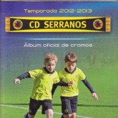 Coleccionismo deportivo: ALBUM OFICIAL DE CROMOS FUTBOL FALTAN 8 CROMOS CD SERRANOS. Lote 87593248