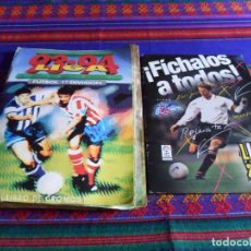 Coleccionismo deportivo: ESTE LIGA 93 94 Y FÍCHALOS A TODOS FÚTBOL 2001 CHICLE BOOMER INCOMPLETO REGALO 116 CROMOS ESTE 04 05. Lote 87734240