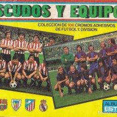 Coleccionismo deportivo: ALBUM INCOMPLETO ESCUDOS Y EQUIPOS EDICIONES ESTE . Lote 89068068