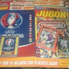 Coleccionismo deportivo: BLISTER REVISTA JUGON 113 + ALBUM EURO2016 + SOBRES LIGA ESTE,ADRENALYN,EURO2016. Lote 89492679