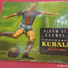 Coleccionismo deportivo: ALBUM DE CROMOS KUBALA. CHOCOLATE SOLSONA. VACIO. ORIGINAL. AÑO 1963. Lote 89566172