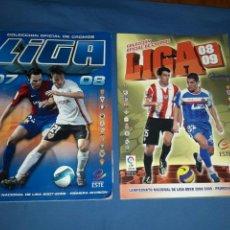 Coleccionismo deportivo: LOTE DE 2 ALBUNES DE FUTBOL 07-08 / 08-09 INCONPLETOS. Lote 89787799