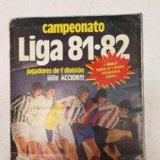 Coleccionismo deportivo: ALBUM FÚTBOL LIGA ESTE 81 82 INCOMPLETO. Lote 90672155