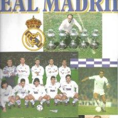 Coleccionismo deportivo: ANTIGUO ALBUM DEL REAL MADRID CON 76 CROMOS EN MUY BUEN ESTADO DE PANINI. Lote 94109883