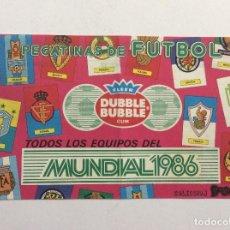 Coleccionismo deportivo: ÁLBUM TODOS LOS EQUIPOS DEL MUNDIAL 1986 FLEER DUBBLE BUBBLE GUM. Lote 94219940