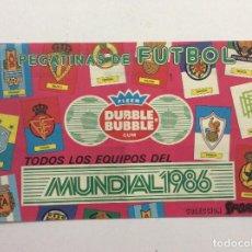 Coleccionismo deportivo: ÁLBUM TODOS LOS EQUIPOS DEL MUNDIAL 1986 FLEER DUBBLE BUBBLE GUM. Lote 94220060