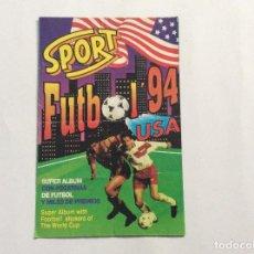 Coleccionismo deportivo: ÁLBUM SPORT FÚTBOL 94 USA CON 5 CROMOS . Lote 94849783