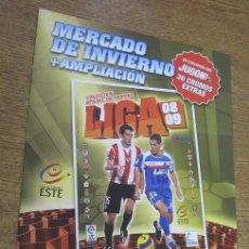 Coleccionismo deportivo: PÁGINAS ADICIONALES ÁLBUMPARA 36 CROMOS ACTUALIZACIÓN + MERCADO DE INVIERNO ESTE 2008 2009 VACÍO. Lote 95051987