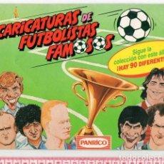 Coleccionismo deportivo: D50 ALBUM VACÍO PORTADA FUTREATLETICO MADRID PARDEZAZARAGOZA BUTRAGUEÑO KOEMANBARCELONA 1990 PANRICO. Lote 95271887
