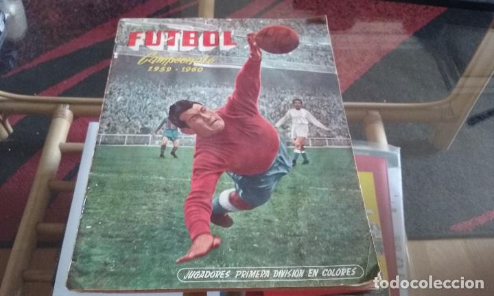 ALBUM FERCA 59-60 . CONTIENE 99 CROMOS. VER IMAGENES. (Coleccionismo Deportivo - Álbumes y Cromos de Deportes - Álbumes de Fútbol Incompletos)