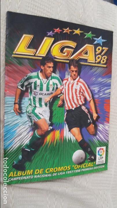 97/98 ESTE. ALBUM MUY COMPLETO COLOCA FICHAJE BAJA DOBLES. LEER DESCRIPCIÓN (Coleccionismo Deportivo - Álbumes y Cromos de Deportes - Álbumes de Fútbol Incompletos)