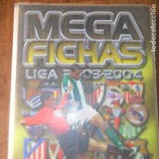 Coleccionismo deportivo: LIGA 2003 - 2003-04 MEGA FICHAS- CONTIENE 182 TRADING CARDS - CROMOS PANINI . Lote 95992835