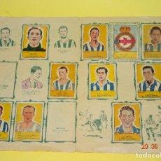 Coleccionismo deportivo: ANTIGUO ALBUM DE FUTBOL CON REAL CLUB DEPORTIVO DE LA CORUÑA DE ALBUMES CENTELLA - AÑO 1940S.. Lote 96104311