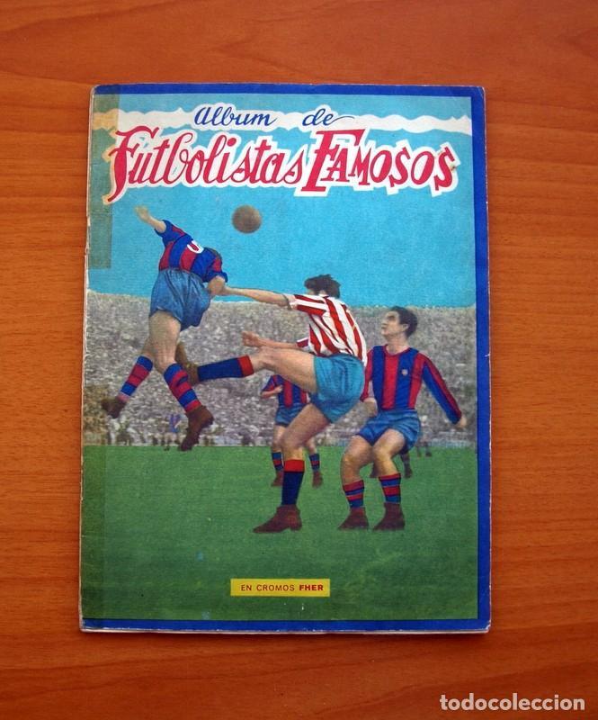 FUTBOLISTAS FAMOSOS, LIGA 1953-1954, 53-54 - EDITORIAL FHER - VER FOTOS E INFORMACIÓN INTERIOR (Coleccionismo Deportivo - Álbumes y Cromos de Deportes - Álbumes de Fútbol Incompletos)